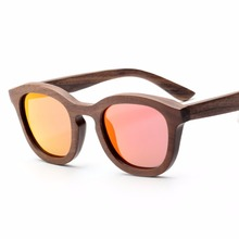 3AM10026 china factory handcrafted <strong>bamboo</strong> polarized red pc lenses wood eyewear