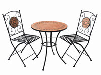Garden Furniture Mosaic Stone Table and Chair Bistro Set