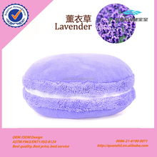 China munufacture plush stuffed lavender purple series macrons decorate cushion for travel