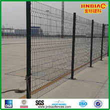 PVC coated modern iron fence