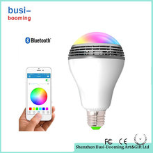 China Manufacturing APP Remote Contrl E27 Color Changing Intelligent Led Emergency Bulb With Build In Bluetooth Speaker