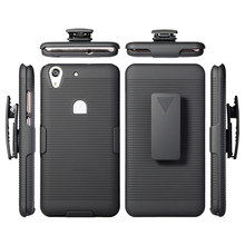 Hard Plastic Combo 2 en1 Holster Kickstand mobile phone cover case for Huawei Y6ii