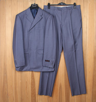 Stock Lot Free Sample Three Buckles Formal Blue Man Business Suit