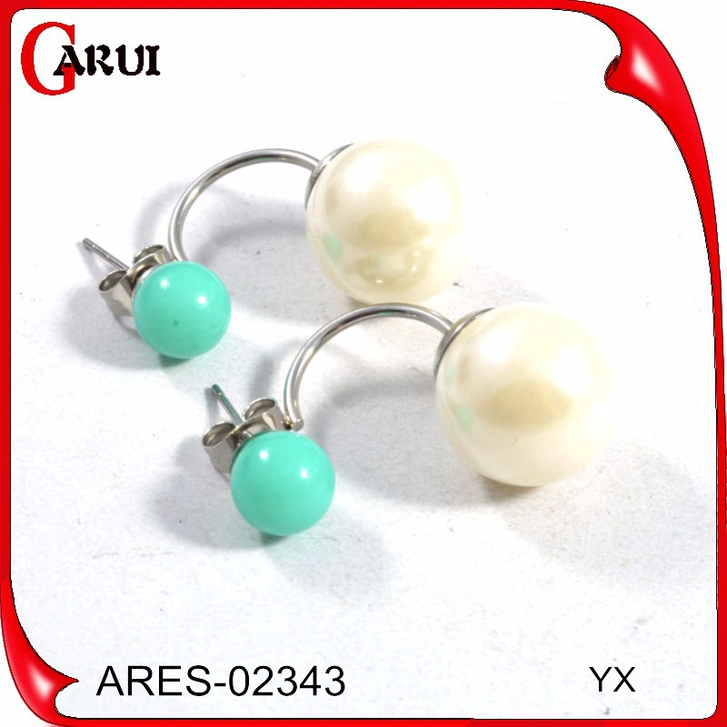 wholesale charms colorful stones earing mother of pearl carving earrings ear cuff pearl
