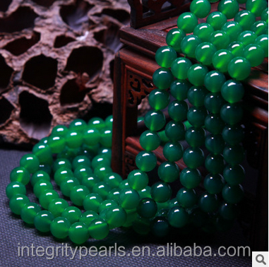 4-14mm Hot sale green druzy agate stone beads green raw agate price