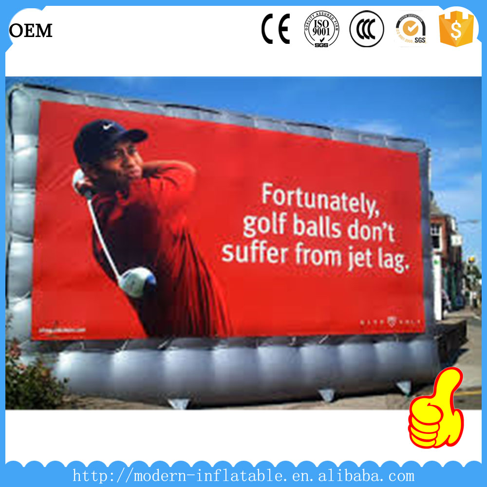 Drive attention inflatable billboard for sale