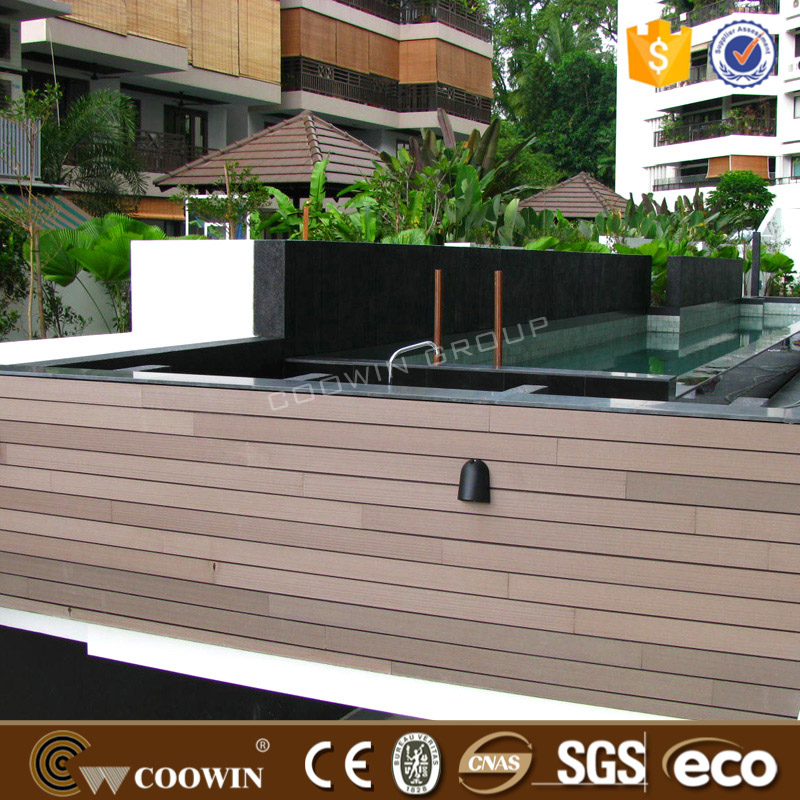 Outdoor plastic wall covering panel