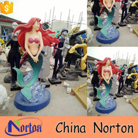 Hand-carved Japanese movie fiberglass mermaid sculpture for theme park NTRS-CS063L