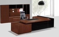 new arrival office furniture executive desk,office desk with side table, office desk top decoration