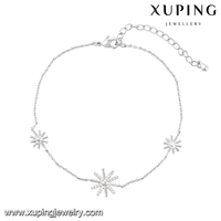 74556 Xuping trendy lobster clasp lock reflective lucky smart cheap charm bracelet