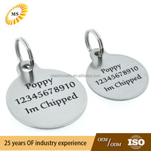 Cat / Dog Puppy ID DISC Tag S/Steel Pet Tags with Permanent BLACK LASER ENGRAVED