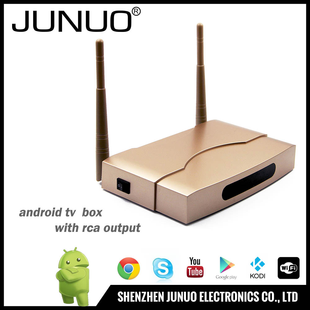 JUNUO High Speed 2016 latest 4K HD H.265 android 6.0 stream tv box free wifi android internet tv box