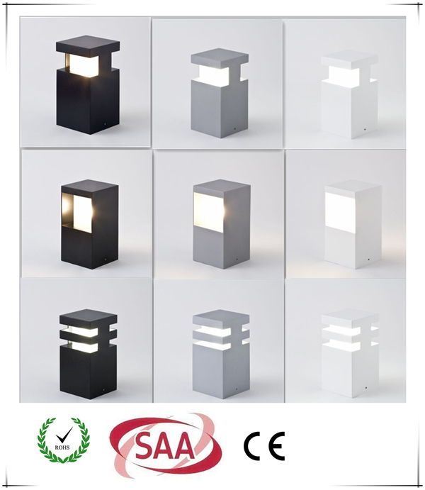 high quality solar fence post lights IP6 5 3 years warranty LED garden bollard light for fence post