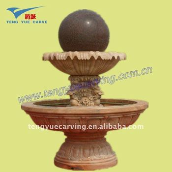 Garden Stone spin ball fountain