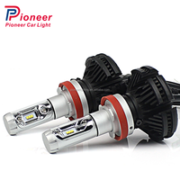 NEW fanless h8 led head light 25W 6000lumen X3 car led head light for auto spare parts car light