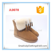 women classic winter ankle length snow boot with mukluks