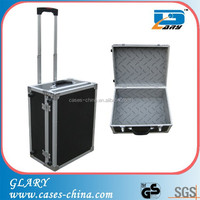 professional travel aluminum trolley tool case