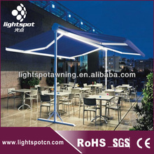 Luminous Double Opened Swing Arm Awning / Open-air Restaurant Awning and Canopy