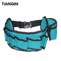 Durable Multi-Pocket Carpenter Electrician Polyester Storage Tool Bag Waist Bag