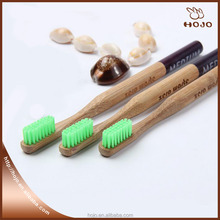 Natural bamboo toothbrush adult soft bristle toothbrush for home personal care green color