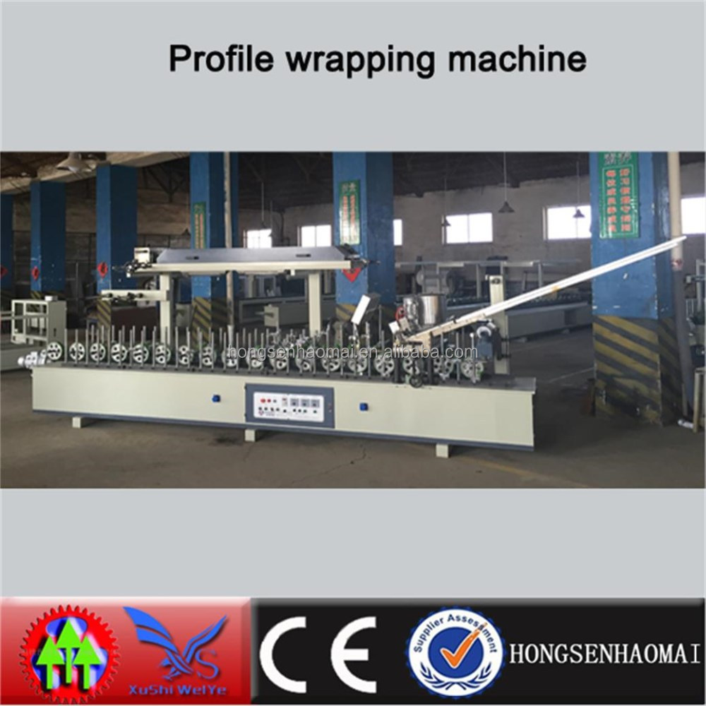 Woodworking MDF Profile wrapping finish foil machine
