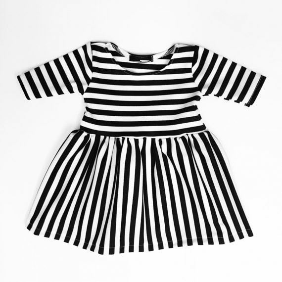 OEM fall black strip latest kids skirts girl one picce cotton boutique dress for wholesale