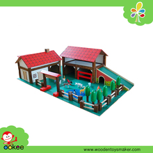 Wooden Mini Farm Play Land Toys for Sale, Village Scenery Drawing Doll House Model