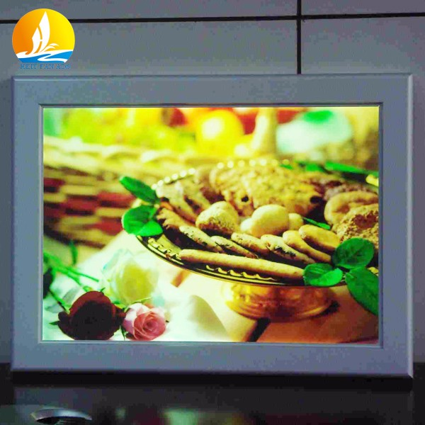 2016 most popular picture frame led light box custom size lightbox led