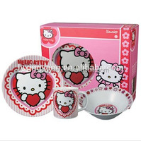 lead free cadmium free dinnerware/ kids porcelain dinner set ,hello kitty kids breakfast dinner set
