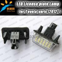 7000K Xenon white LED License Plate Light for toyota yaris camry license plate light led kit Rear Registration Number Plate Bulb
