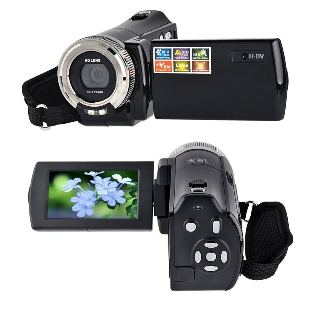 2017 HD C8 2.7inch Screen Digital Video Camera, Camcorder <strong>16</strong> Mega Pixel 720P HD 16X Digital Zoom Sports