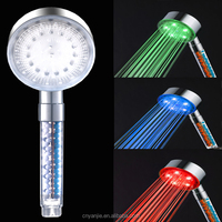 temperature control LED hand shower head