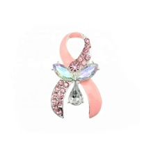 Fancy Acrylic Pink Ribbon Breast Cancer Awareness pins Jewelry Brooches