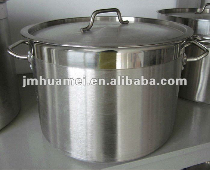 Sand chrome stainless steel stock pot