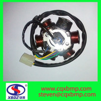 CG125,150-6 poles with a charging coil and 5 lighting coil.AC motorcycle Magneto stator Coil for honda