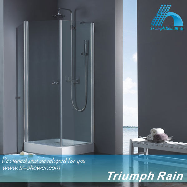 6mm tempered glass square pivot door shower cubicle