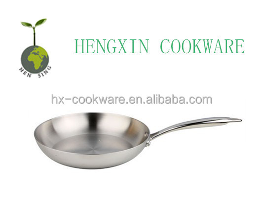 Durable Stainless Steel Magnetic Frying Pan
