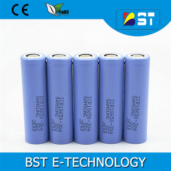 Authentic Samsung icr 18650 30a 3000mAh Li-ion cell 3.7V lithium lion rechargeable battery for Samsung ICR18650-30A 3000mAh