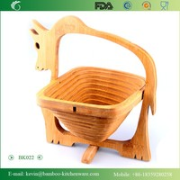 BK022/New design bull shape kitchen woven basket foldable bicycle shopping fruit basket wholesale willow basket from factory