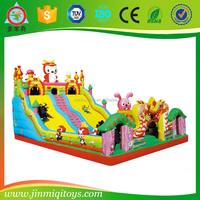 Customized residential inflatable bounce house for kids plastic houses for kids