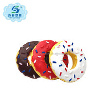 2017 New product Donuts Durable and Plastic Squeaky Dog Toys