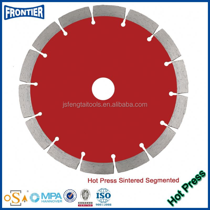 Hot Pressed Continuous Rim Diamond Saw Blade for Glass Brick