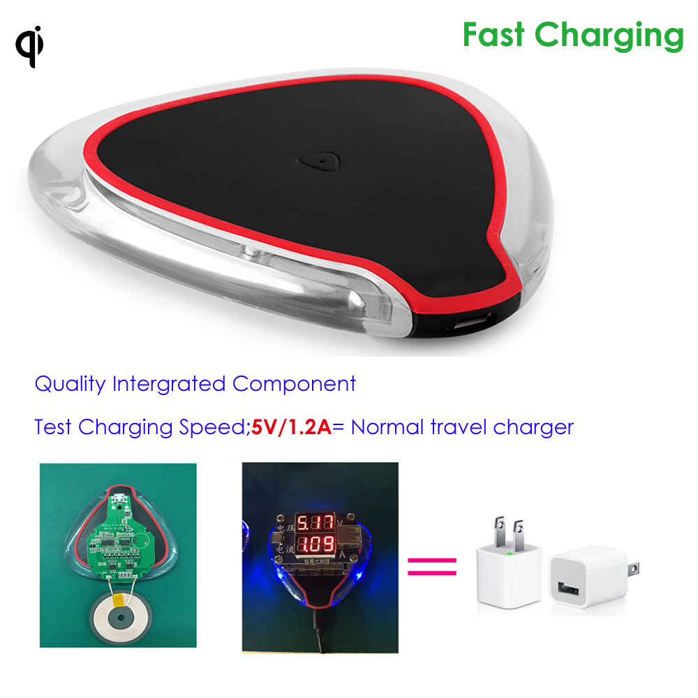 fast charging qi wireless charger for iphone 8,samsung smart phones