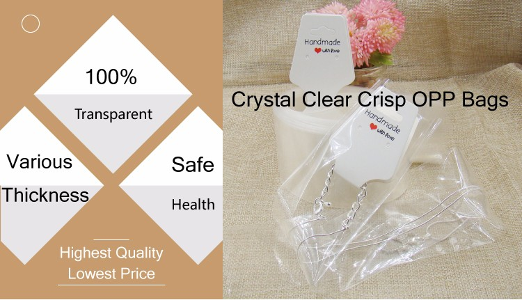 clear printing polybag for garment,clear plastic clear header packaging bags opp bag with hanging header