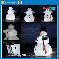 small snow globe inflatable inflatable christmas bumble snowman