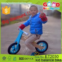 Wholesale China plywood bright green color wooden balance bike, balance bike for kids
