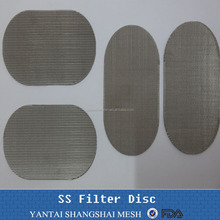 sintered stainless steel metal porous filter discs