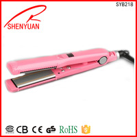 Hot selling Electric professional Flat iron hair straightener cememic PTC 200 Degree home use made in china