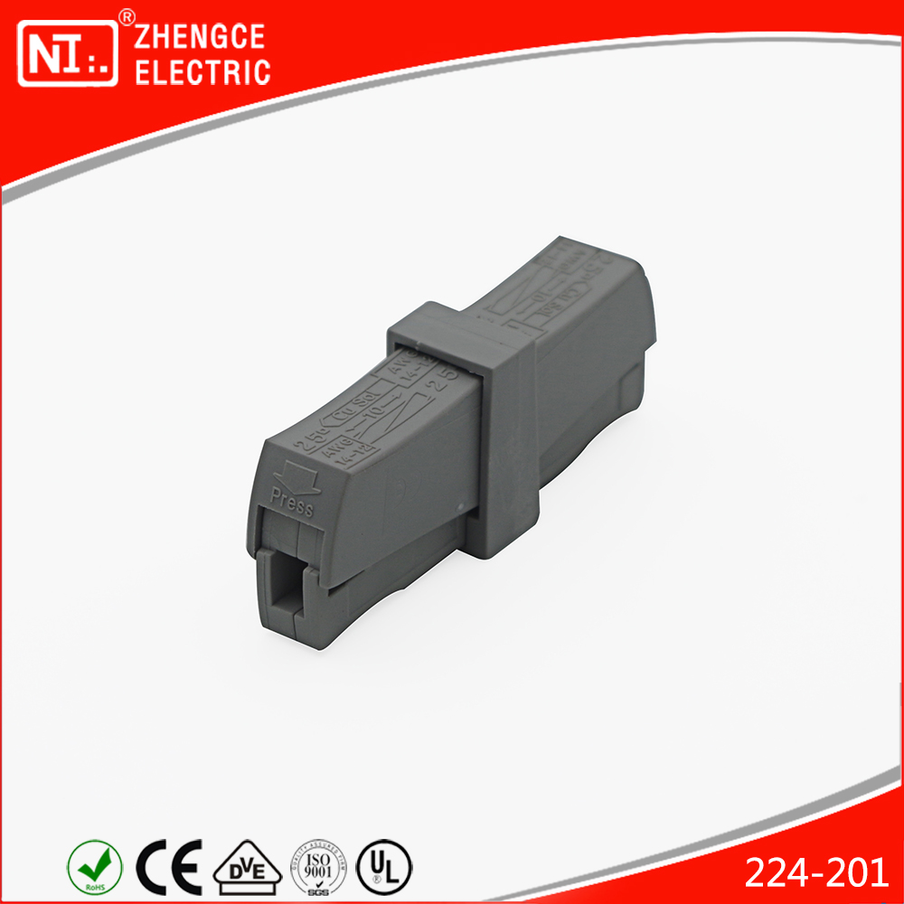 Lighting Connector End Replace WOGO 224-201 Terminal Block With Gray