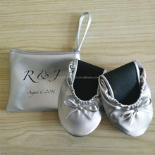 Wedding Souvenir Silver Folding Shoes With The Pouh